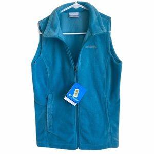 Girls Blue Columbia Vest NWT Size Large
